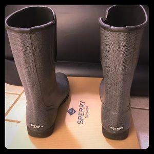 Sperry grey rain boots